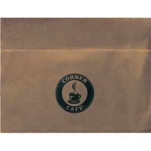 "5""x6.5"" Unbleached Single Ply 3/4 Fold Napkins"