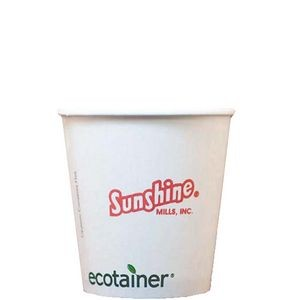 10 Oz. Eco-Friendly Solid White Cups - The 500 Line
